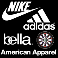 Nike American Apparel Bella Adidas Darts Shirts