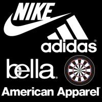 Nike American Apparel Bella Adidas Darts Shirts