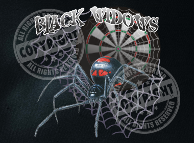 Black Widows Darts Shirt Design