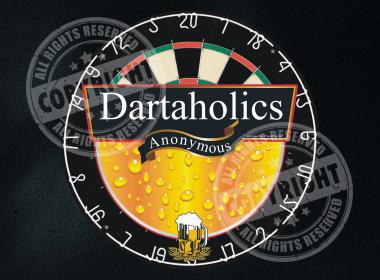 Dartaholics Anonymous Darts Shirt Design
