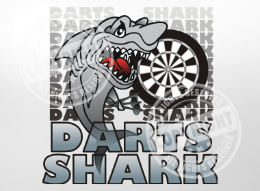 Darts Shark Darts Shirt Design