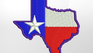 Texas Embroidery Design