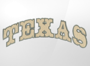 Texas Lettering Embroidery Design