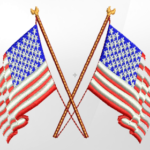 USA Flags Embroidery Design
