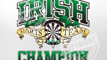 Irish Darts Team Champion Darts Shirt Design