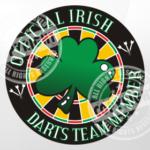Irish Darts Team Member Darts Shirt Design