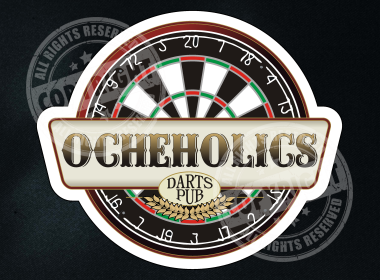 Ocheholics Darts Shirt Design