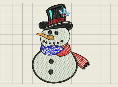 Patriotic Snowman Embroidery Design