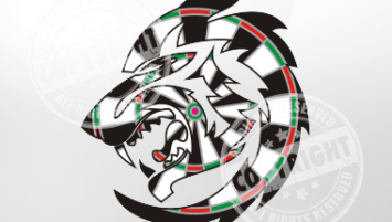 Tribal Wolf Darts Shirt Design