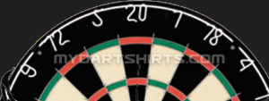 The subtle watermark within the skull darts design provides a source without distraction from the image itself.