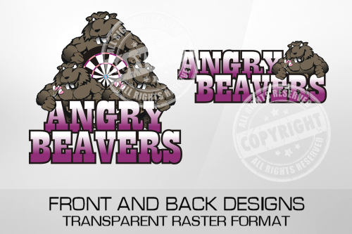 Angry Beavers Darts Shirt Design