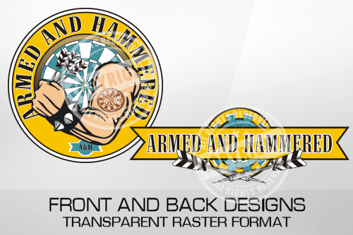 Armed And Hammered Darts Shirt Design