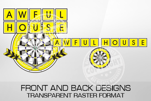Aweful House Darts Shirt Design