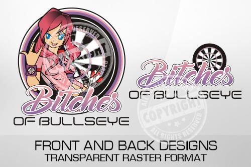 Bitches Of Bullseye Darts Shirt Design