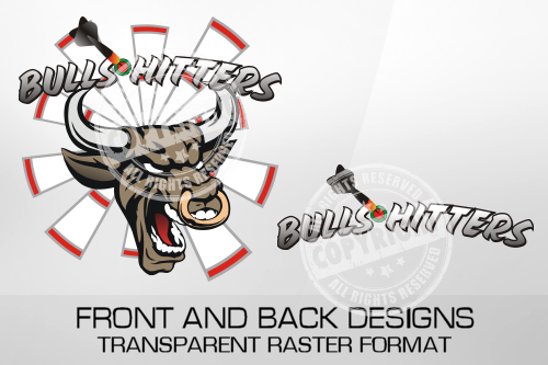 Bulls Hitters Darts Shirt Design