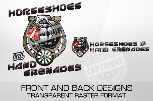 Horseshoes And Hand Grenades Darts Shirt Design