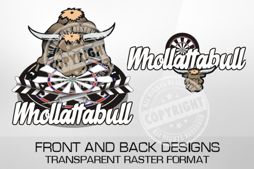 Whollatabull Darts Shirt Design